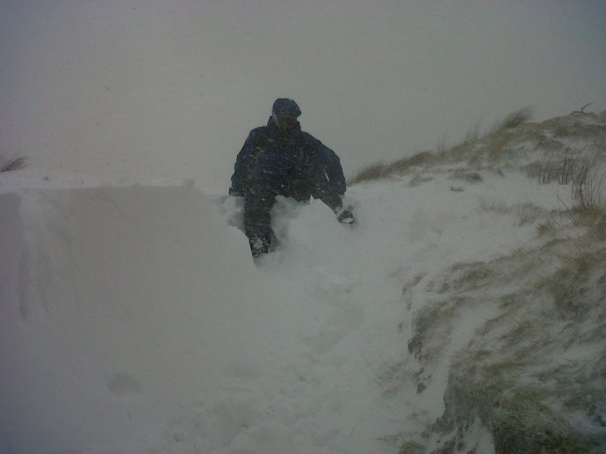 Another photo of me - stylishly negotiating a drift - kindly supplied by Hamish.